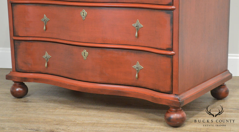 Inheritance by Heritage Red Painted Secretary Desk