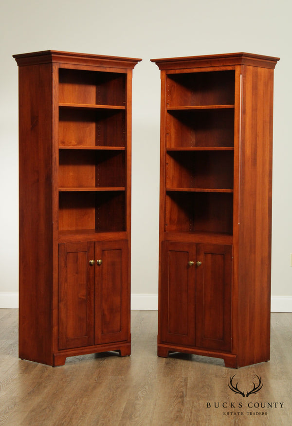 Mission Maple Custom Quality Pair Bookcases