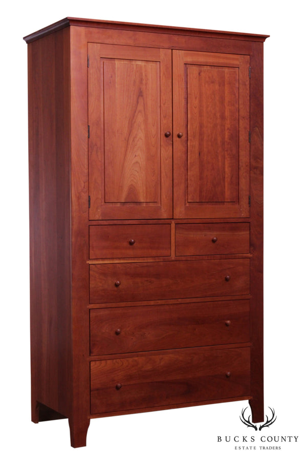 Harden Solid Cherry Shaker Style Armoire Chest