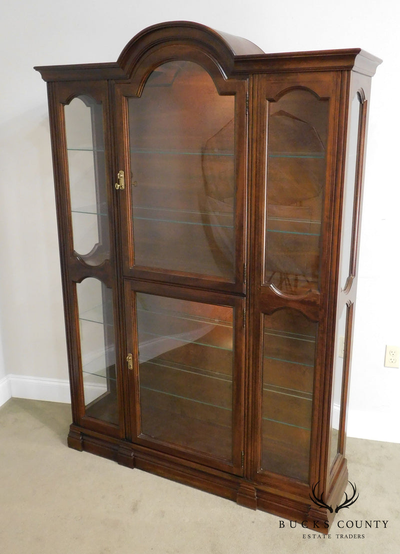 Jasper Cherry Bubble Glass Curio Display Cabinet