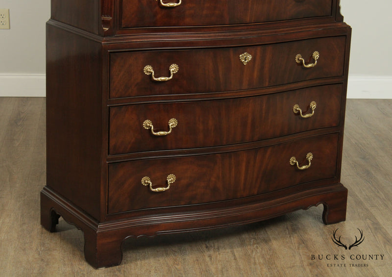 Drexel Heritage Heirlooms Mahogany Chippendale Style Tall Chest on Chest