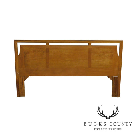 Mid Century Modern Vintage Light Walnut King Headboard