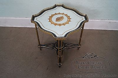 John Richard Regency Style Eglomise Mirror Top Side Table