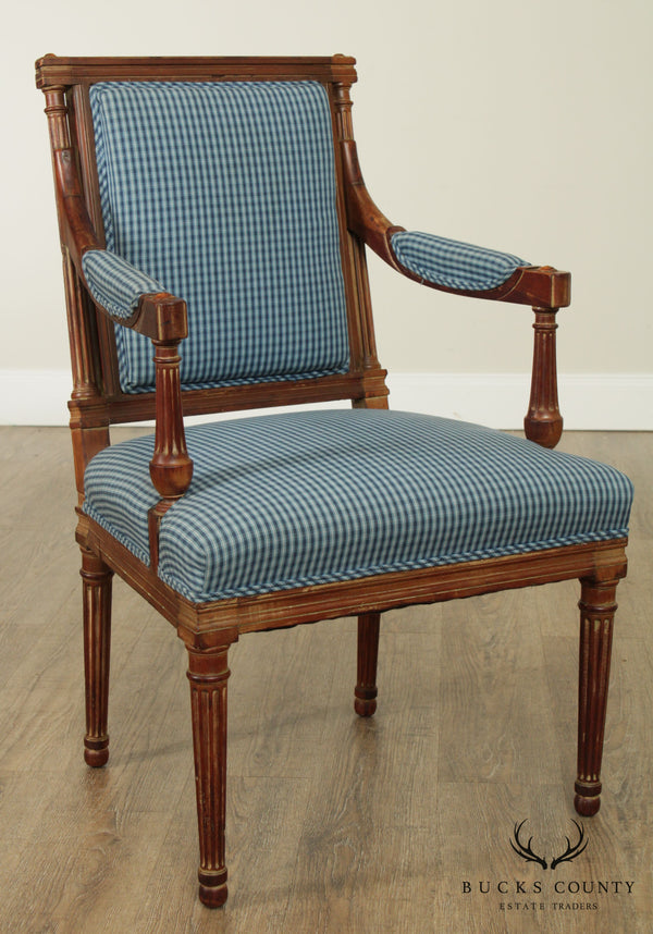 Antique French Louis XVI Style Fauteuil Armchair