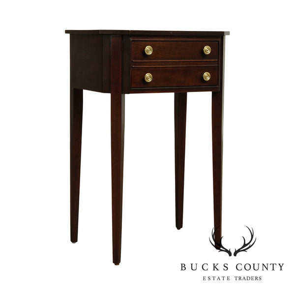 Hepplewhite Style Mahogany One Drawer Side Table