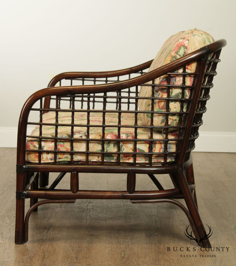 Ficks Reed Vintage Curved Back Rattan Loveseat
