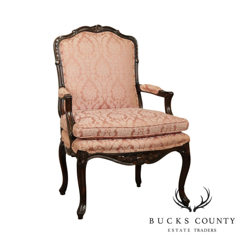 French Louis XV Style Custom Quality Armchair Fauteuil