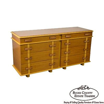 "Paul Frankl for Johnson Furniture ""Station Wagon"" Dresser 8 Drawer Chest"