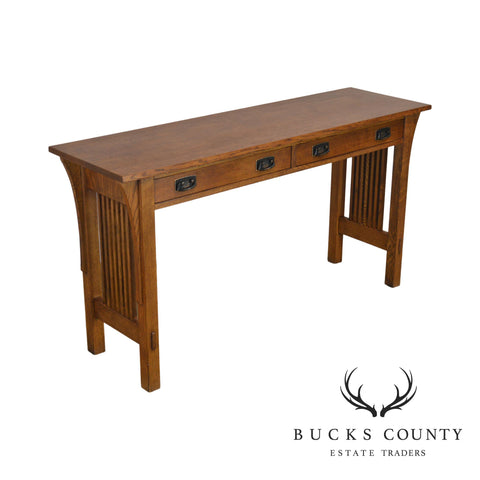 Stickley Mission Collection Oak 2 Drawer Sofa Table