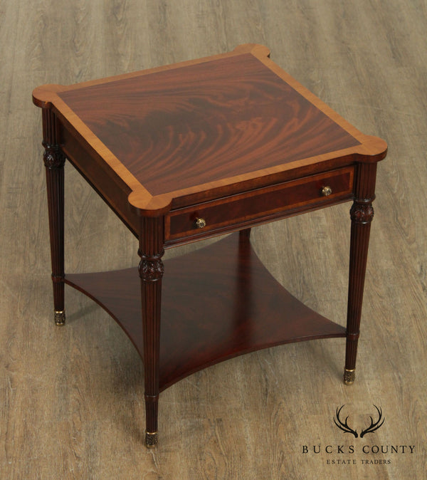 LLoyd Buxton Regency Style Mahogany One Drawer Side Table