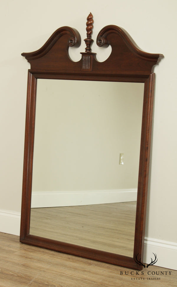 Ethan Allen Georgian Court Cherry Broken Arch Top Mirror