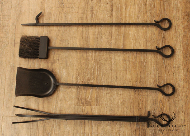 Forged Iron Fireplace Tools
