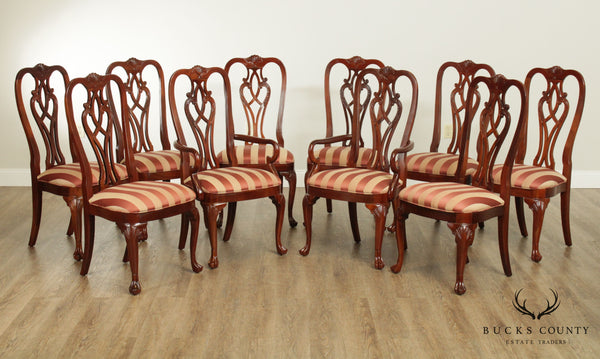 Ethan Allen 18th Century Mahogany Collection Set 10 Dining Chairs