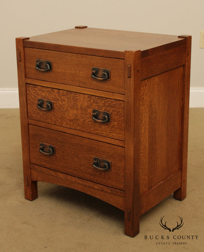Stickley Mission Collection Oak 3 Drawer Nightstand