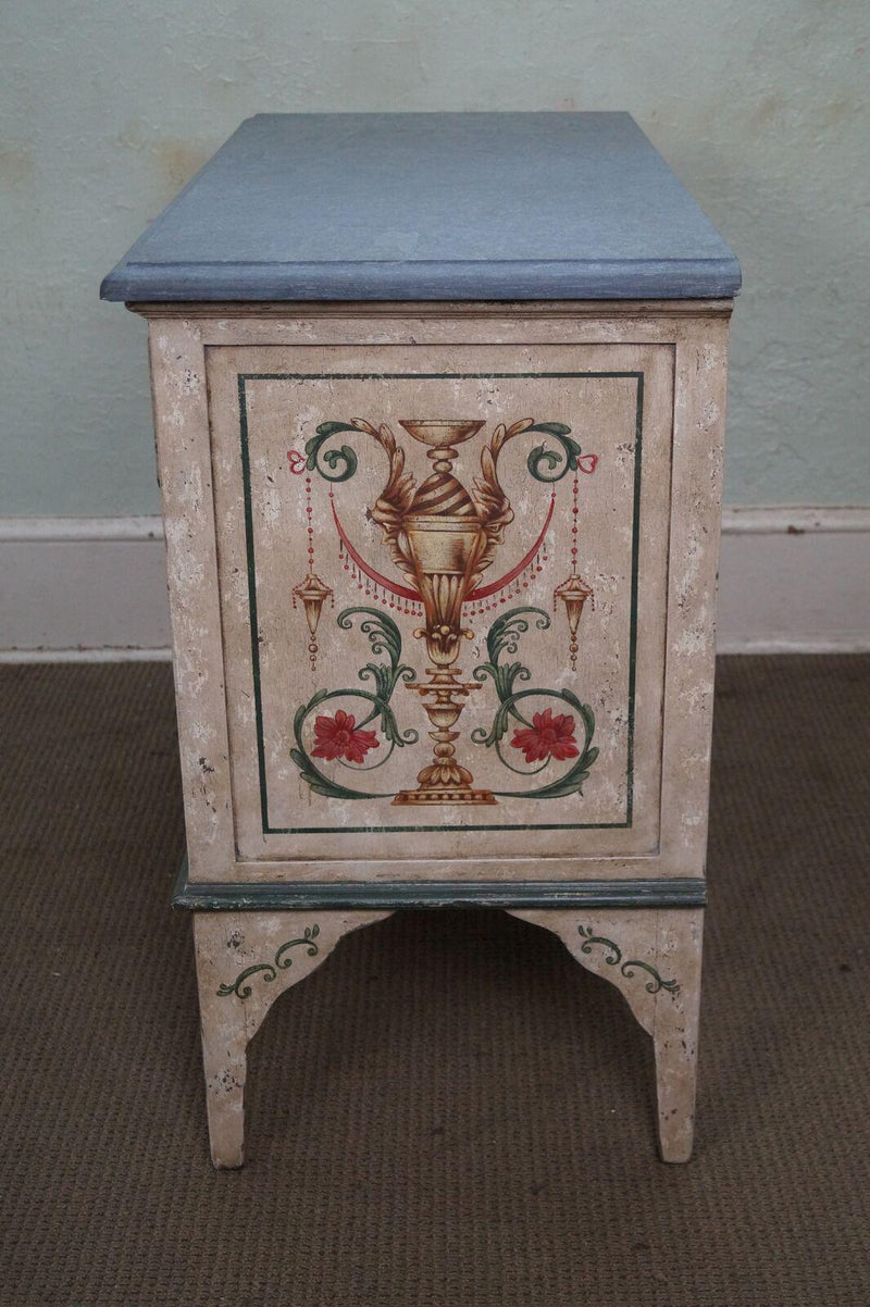 Amy Howard Collection Hand Painted Italian Slate Top Commode Chest