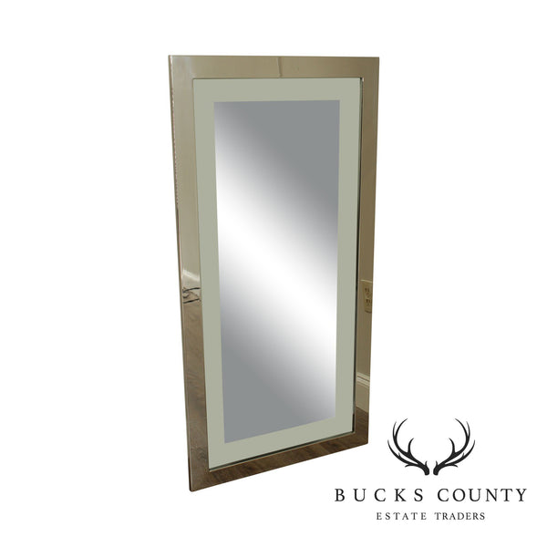 "Mid Century ""Floating"" Mirror with 48"" x 24"" Chrome Frame"