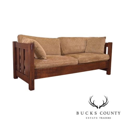 Stickley Mission Collection Oak Settle