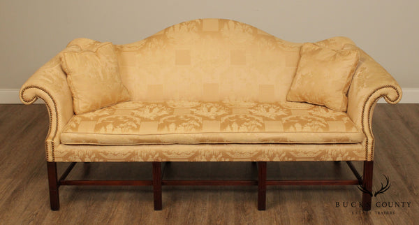 Chippendale Style Great Quality Mahogany 8 Leg Camelback Sofa