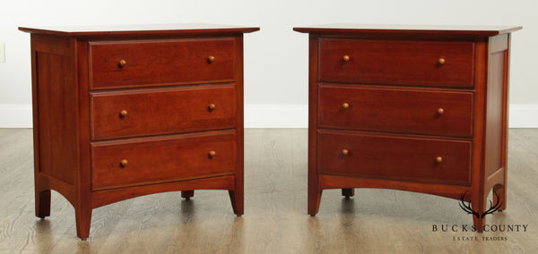 Thomasville 'Impressions' Cherry Pair 3 Drawer Chests Nightstands