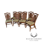 Braxton Culler Quality Rattan Set of 8 Dining Chairs