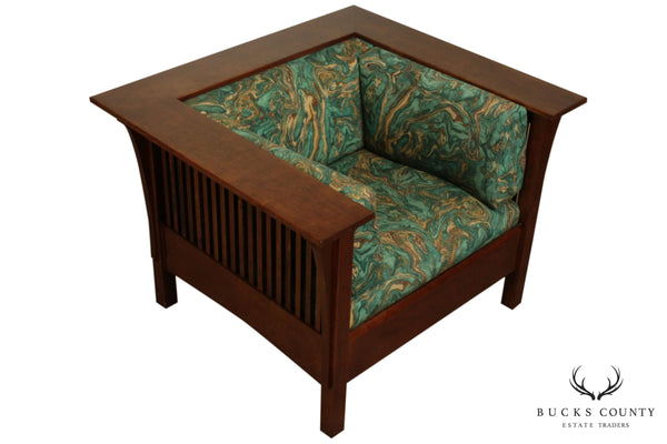 Stickley Mission Collection Cherry Spindle Prairie Chair