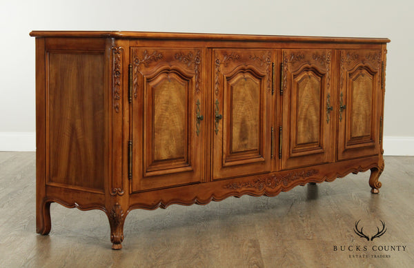 Widdicomb French Louis XV Style Walnut Long Sideboard, Buffet