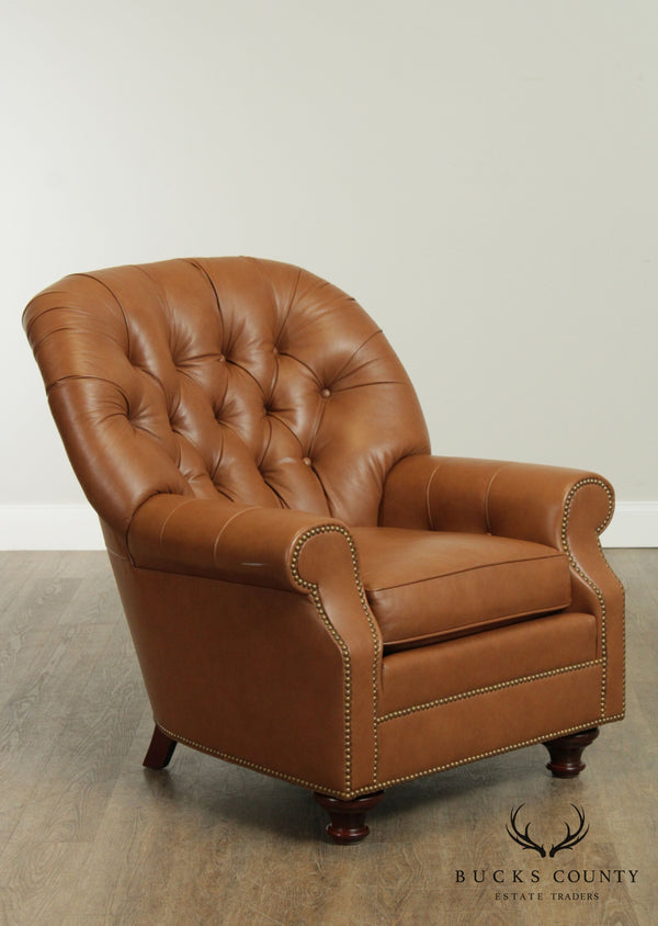 Leathercraft Tufted Leather Club Chair
