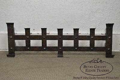 Arts & Crafts Hammered Iron Fireplace Fender