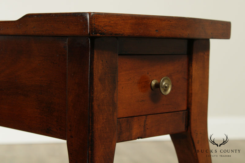 French Country Style Narrow One Drawer Side Table by Spadetto