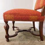 Southwood Jacobean Style Custom Upholstered Set 8 Dining Chairs