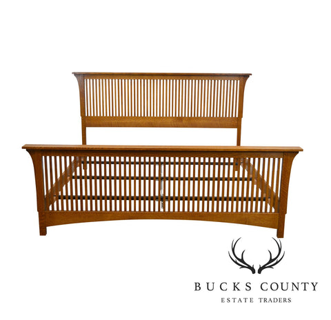 Stickley Mission Collection Oak King Size Spindle Bed