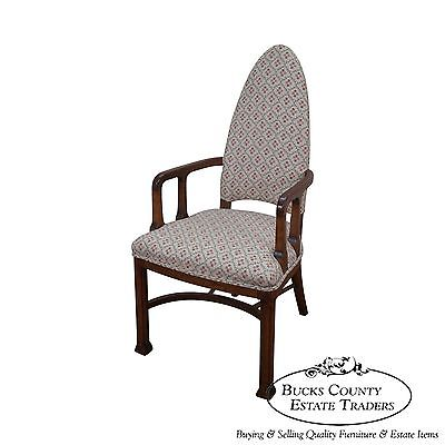 Custom Quality Mid Century Gothic Style Arm Chair