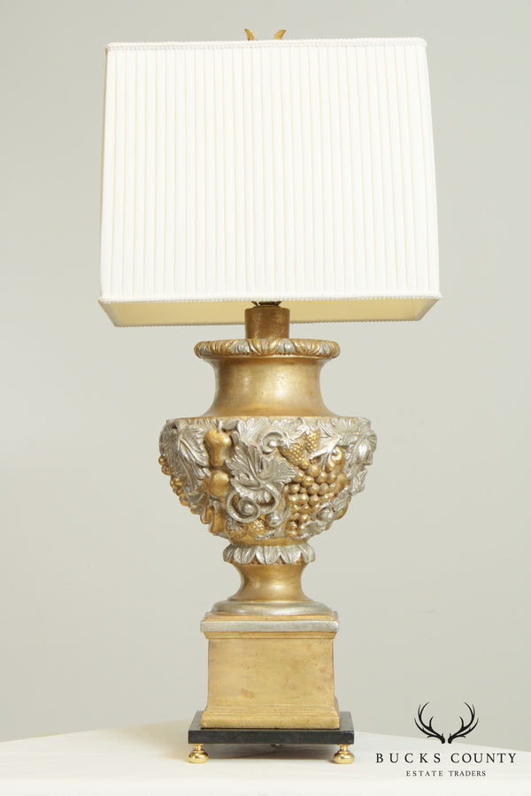 Quality Italian Gilt Gesso Carved Table Lamp