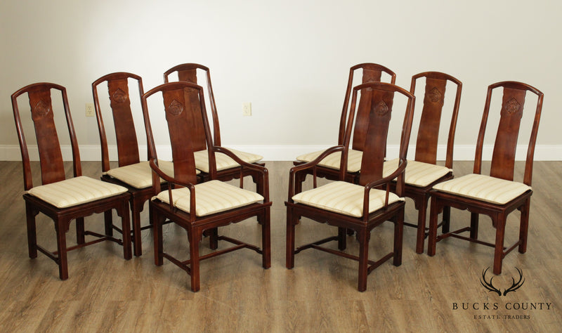 Henredon Vintage Asian Style Set 8 Dining Chairs