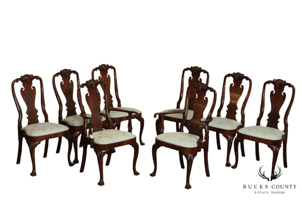 Councill Mahogany Set 8 Queen Anne Dining Chairs