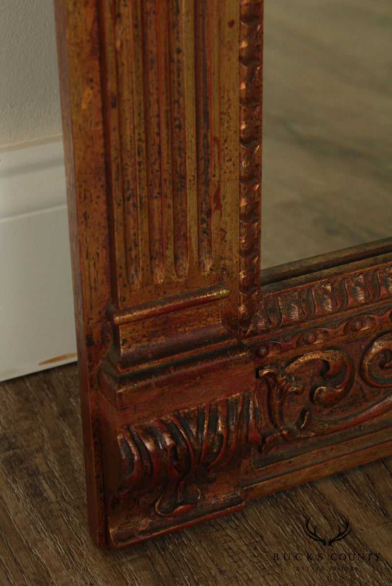 Vintage French Gilt Wood Carved Wall Mirror