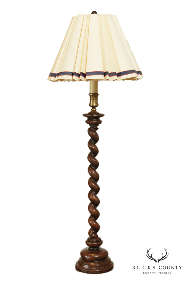 Chapman Vintage Barley Twist Double Socket Floor Lamp