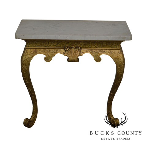 Georgian Style Antique 19th Century Giltwood Marble Top Console