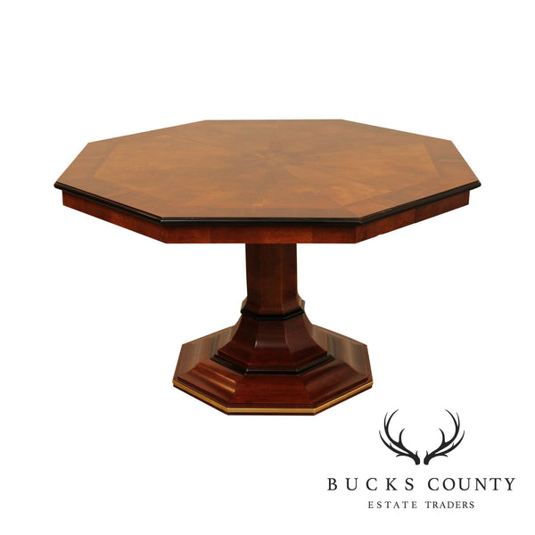 Century Empire Style Mahogany Octagonal Dining Table, 2 Leaves (A)