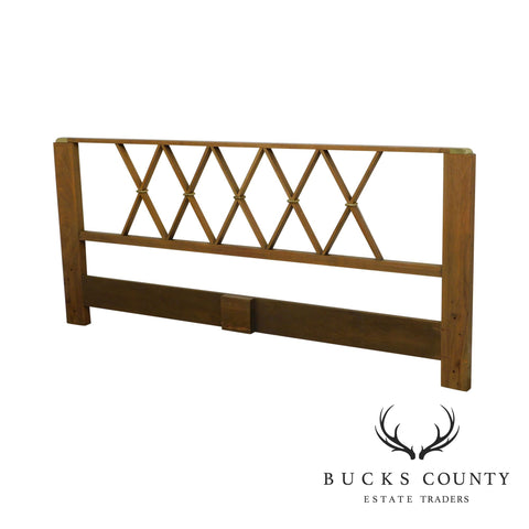 Paul Frankl For Johnson Furniture X Back King Size Headboard