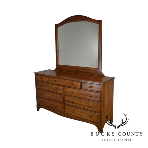Durham Solid Maple 9 Drawer Dresser with Mirror