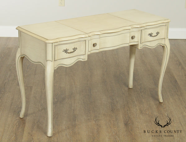 Oscar Huber French Louis XV Style Vintage Painted Vanity Table