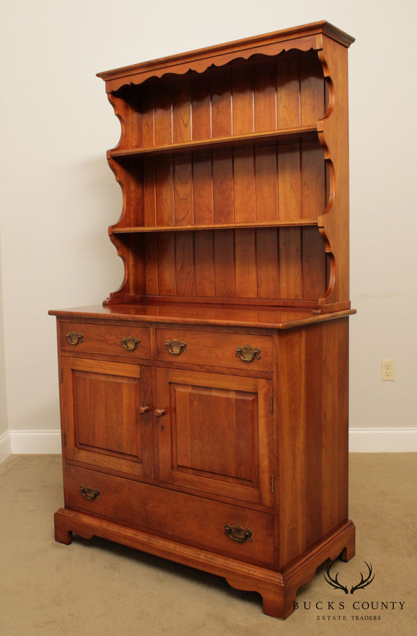 Stickley Cherry Valley Vintage Cherry Server Hutch Cabinet