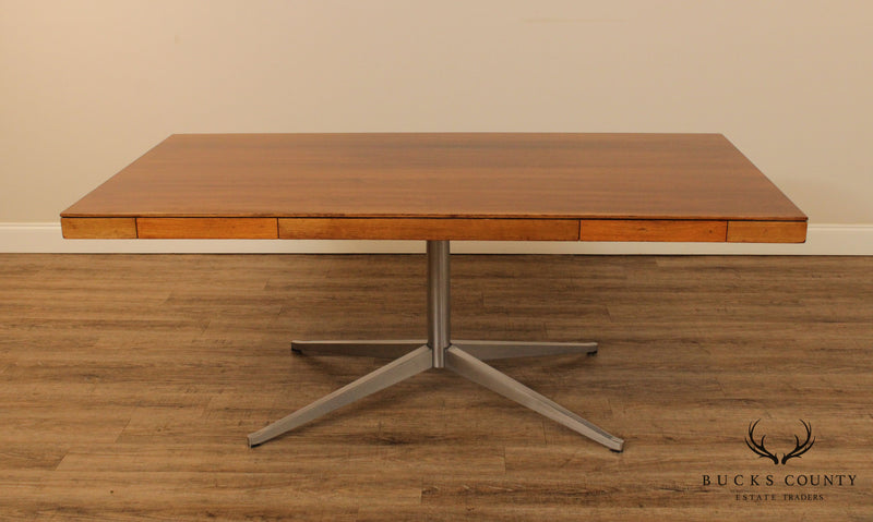 Florence Knoll Mid Century Modern Rosewood Partners Desk
