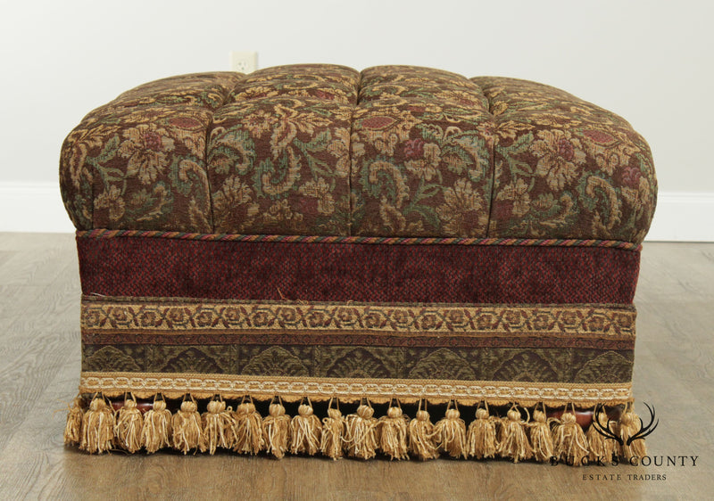 Custom Quality Large Tufted Upholstered Ottoman