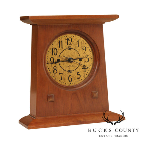 Stickley Mission Collection Cherry Bracket Clock (B)