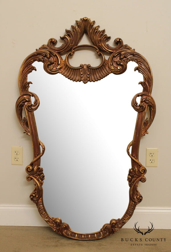 Union City Vintage Carved Gold Frame Rococo Style Wall Mirror