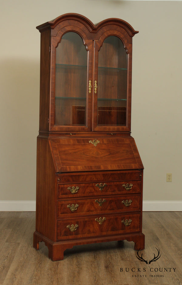 Weiman George III Style Walnut Double Bonnet Top Secretary Desk