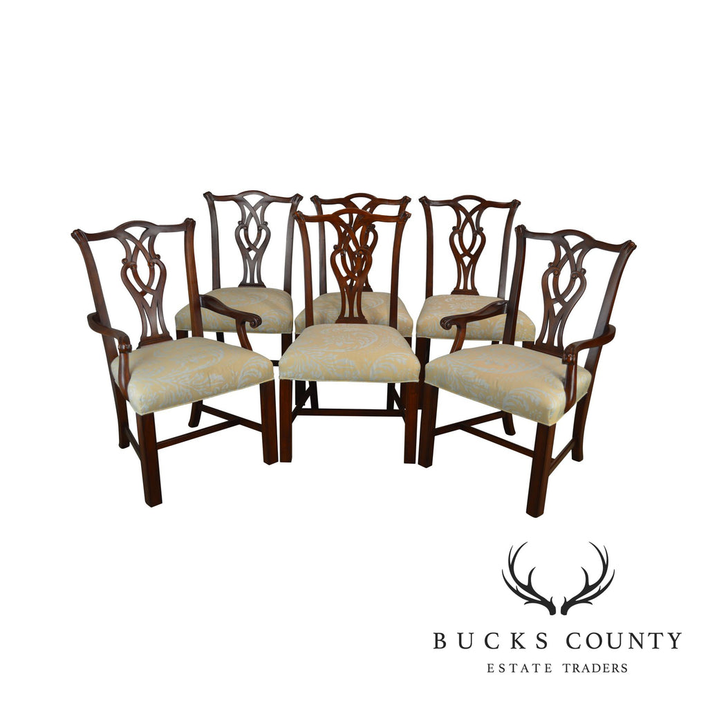 Terrific Henredon Polo Ralph Lauren Chippendale Style Set 6 Mahogany Ocoug Best Dining Table And Chair Ideas Images Ocougorg