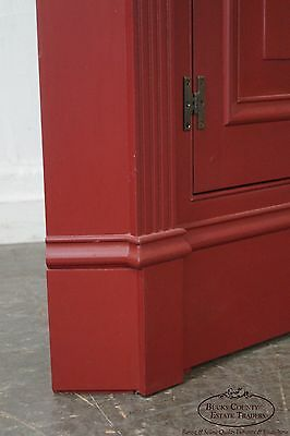 Custom Crafted Large Painted Corner Cabinet by Robert Sykes Jr.